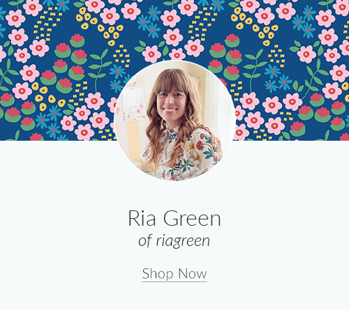July Artist Spotlight: Meet Ria Green of riagreen | Spoonflower Blog