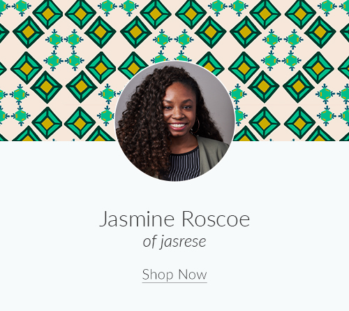 July Artist Spotlight: Meet Jasmine Roscoe of jasrese | Spoonflower Blog
