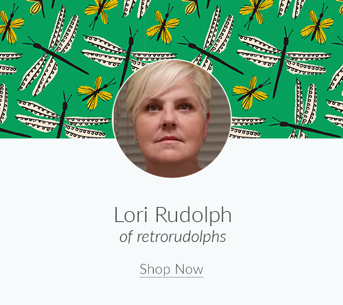 July Artist Spotlight: Meet Lori Rudolph of retrorudolphs | Spoonflower Blog