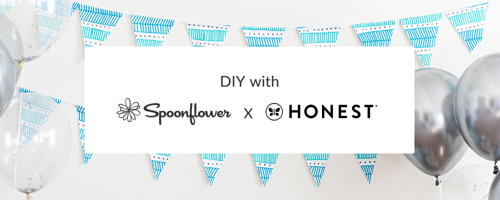 Craft a No-Sew Pennant Banner for Baby Showers with The Honest Company® | Spoonflower Blog