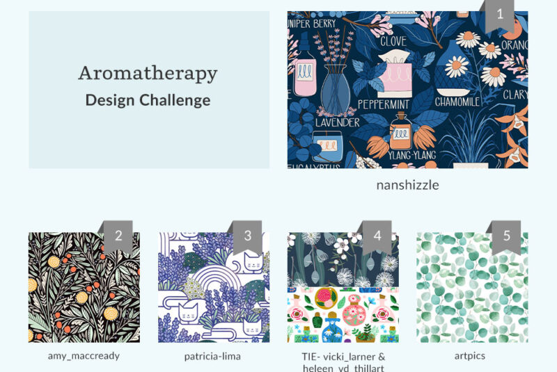 See Where You Ranked in the Aromatherapy Design Challenge | Spoonflower Blog