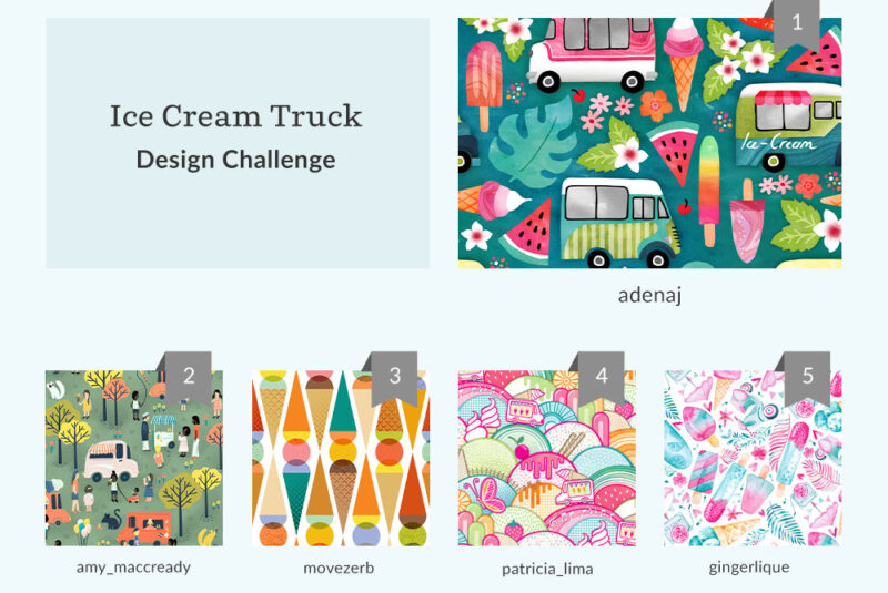 See Where You Ranked in the Ice Cream Truck Design Challenge | Spoonflower Blog