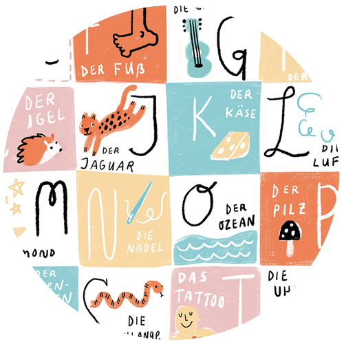 Das Alphabet (German) by Anda | Spoonflower Blog