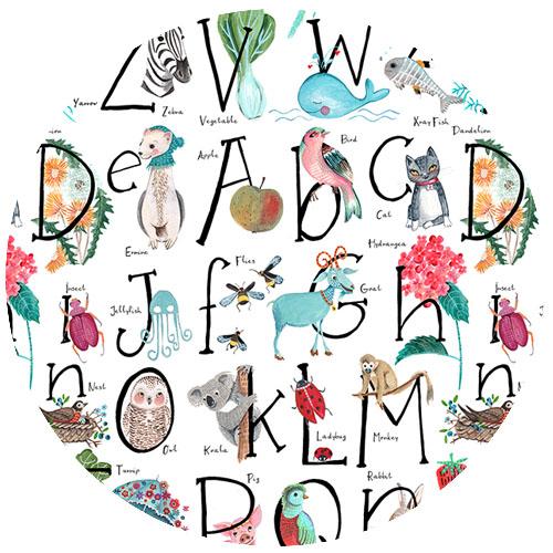 Alphabet ABC by caroline_bonne_muller | Spoonflower Blog