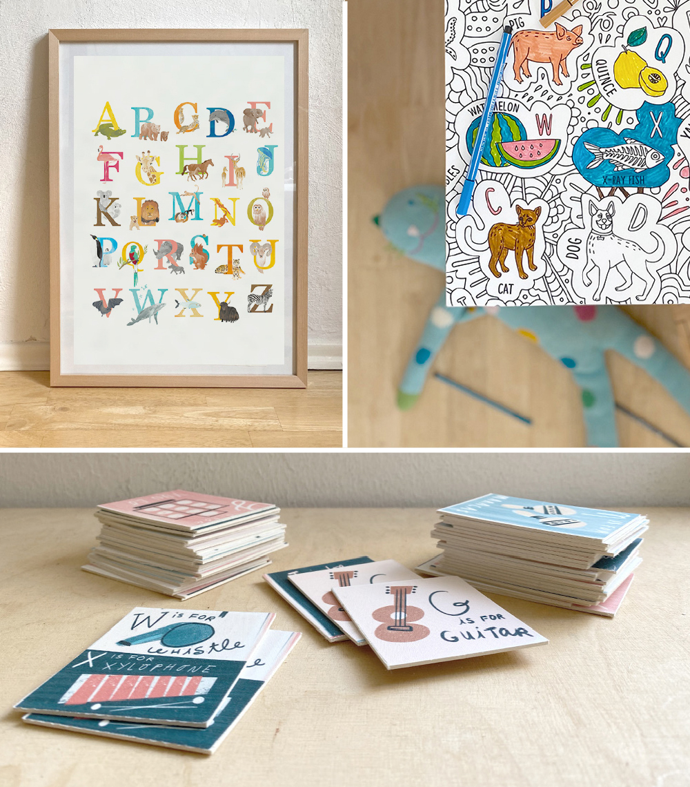 Fun With Letters: Learning the Alphabet Featuring Spoonflower Wallpaper | Spoonflower Blog