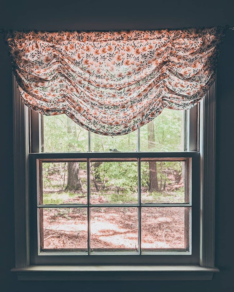 DIY window valence in Poly Crepe de Chine   Spoonflower Blog