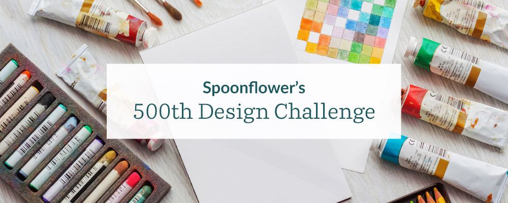 Announcing the 500th Design Challenge: Your Artistic Voice | Spoonflower Blog