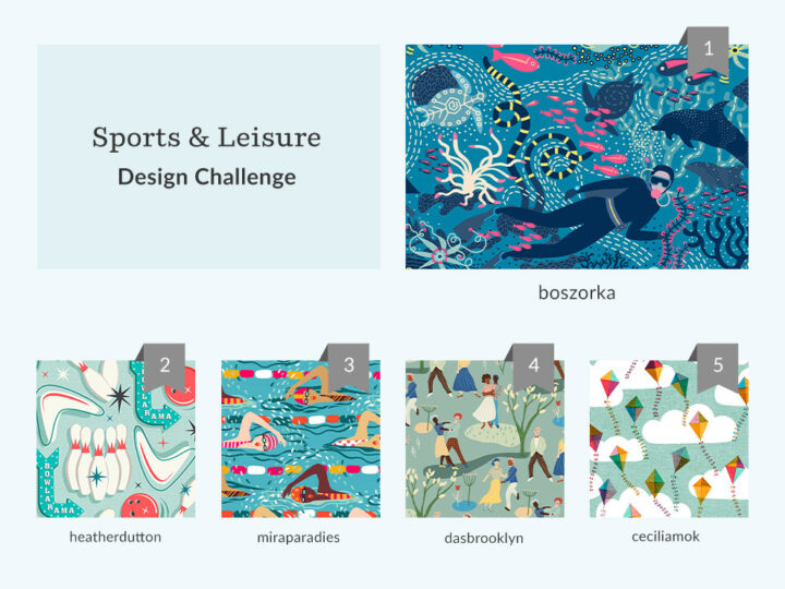 See Where You Ranked in the Sports & Leisure Design Challenge | Spoonflower