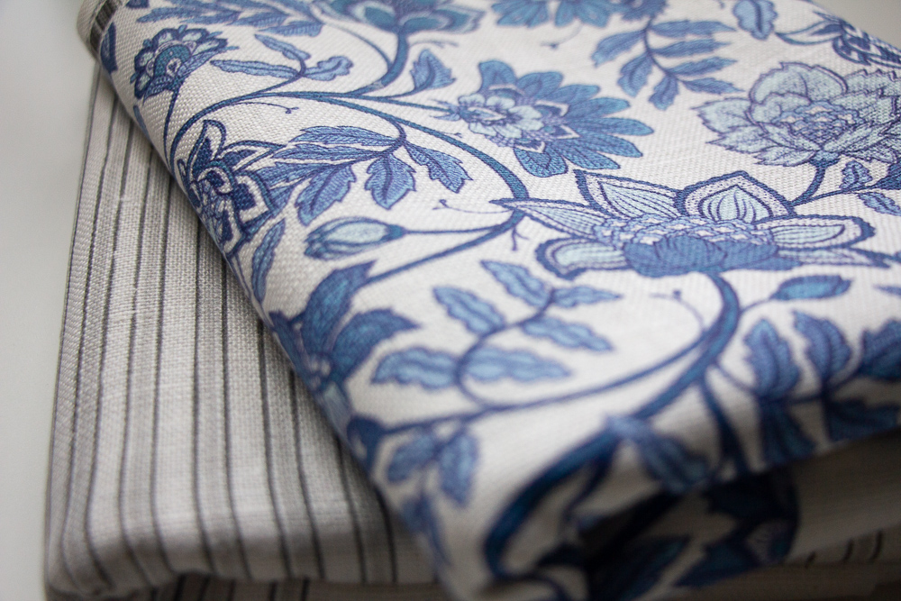 Stack of Belgian Linen fabric | Spoonflower Blog