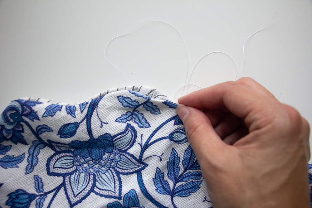 Stitch the placemat closed | Spoonflower Blog