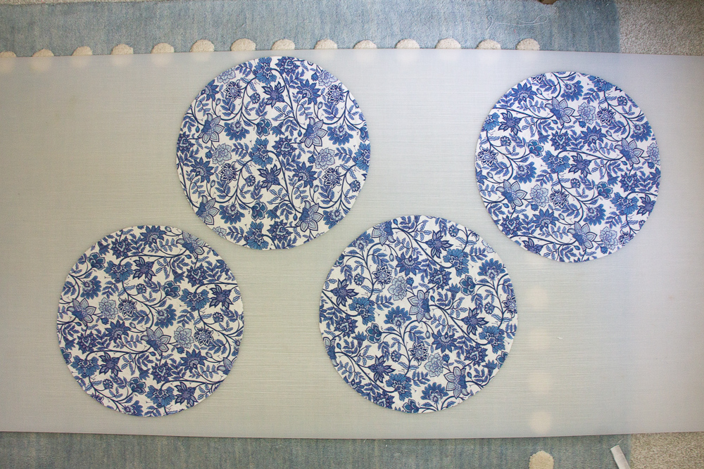 Place the placemat pattern on top of the fabric and cut out with fabric scissors | Spoonflower Blog