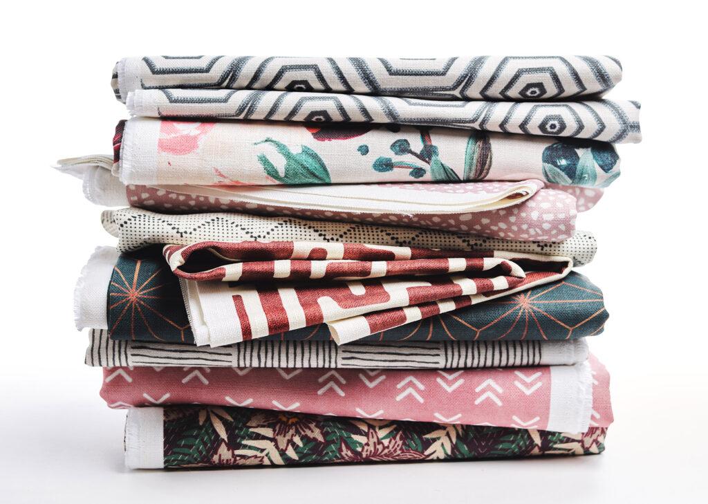 Belgian Linen stack | Spoonflower Blog