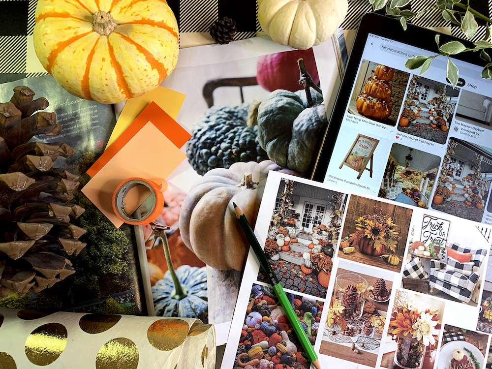 Autumnal mood board