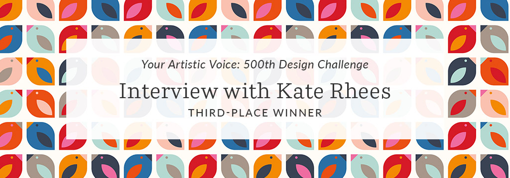 Spoonflower Artist Spotlight: An Interview with Kate Rhees, Third-Place Winner of Your Artistic Voice | Spoonflower Blog