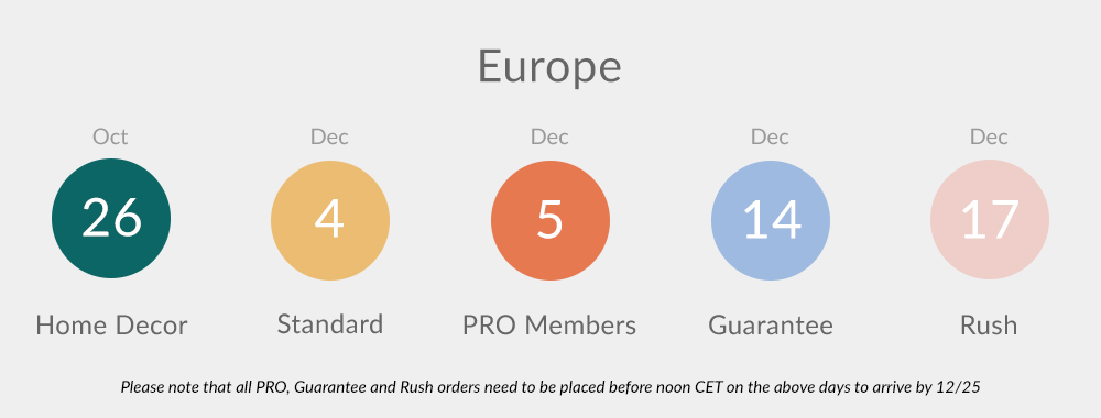 2020 Holiday Ordering Deadlines - Europe | Spoonflower Blog