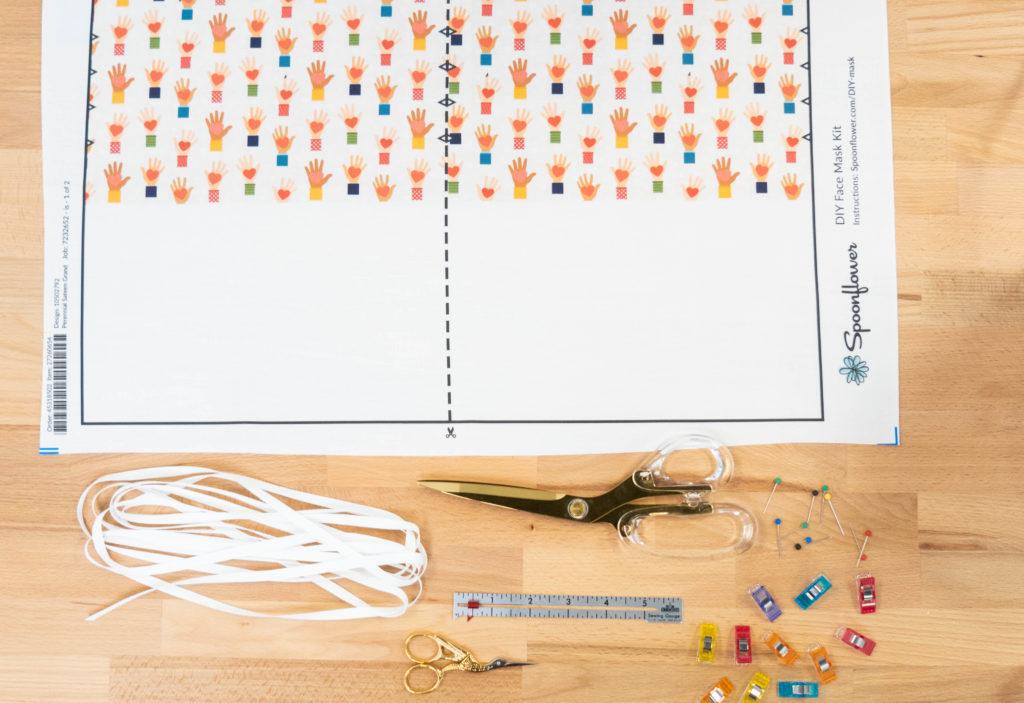 Materialien DIY-Gesichtsmasken Set Spoonflower