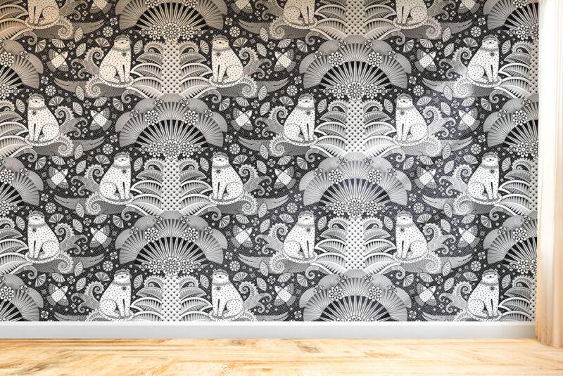 Spoonflower Artist Spotlight: An Interview with Elmira Arts - First-Place Winner | Spoonflower Blog | Winning design on wallpaper