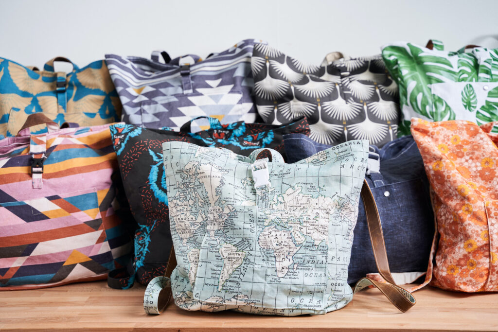 Tutorial: Jutebeutel in einen Rucksack umnähen