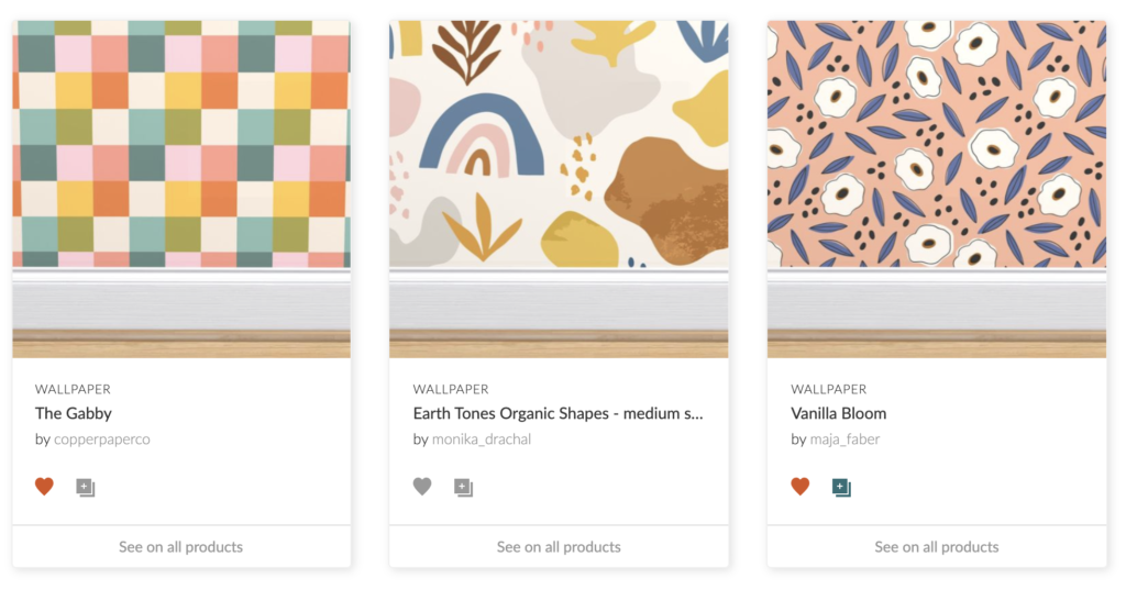 Three geometric and floral designs from the Spoonflower Marketplace | Spoonflower Blog