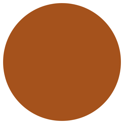 A dot of the color copper
