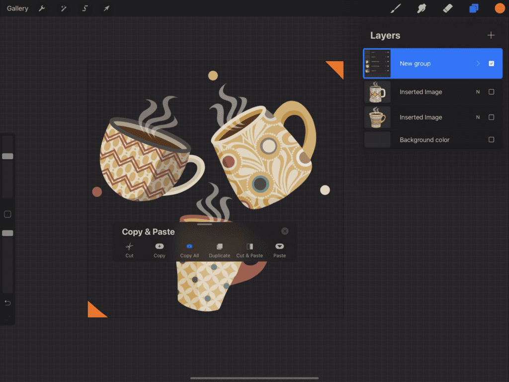 Creating a Pattern in Procreate - Copy Your Design Elements
