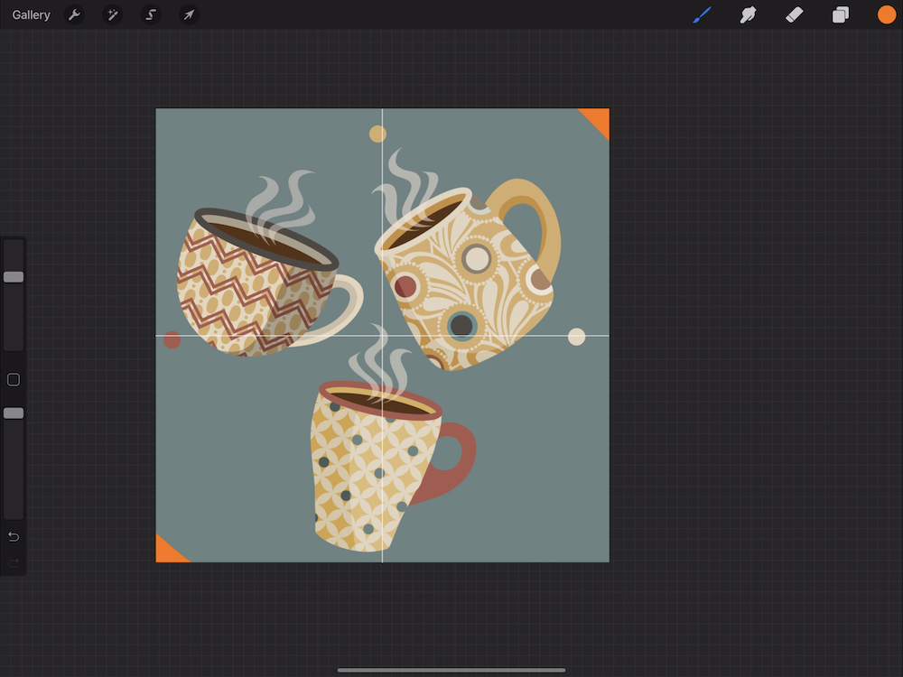 Creating a Pattern in Procreate - Add Corner Marks to Your Canvas
