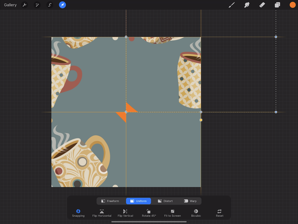 Creating a Pattern in Procreate - Snap Your Design Elements in Place