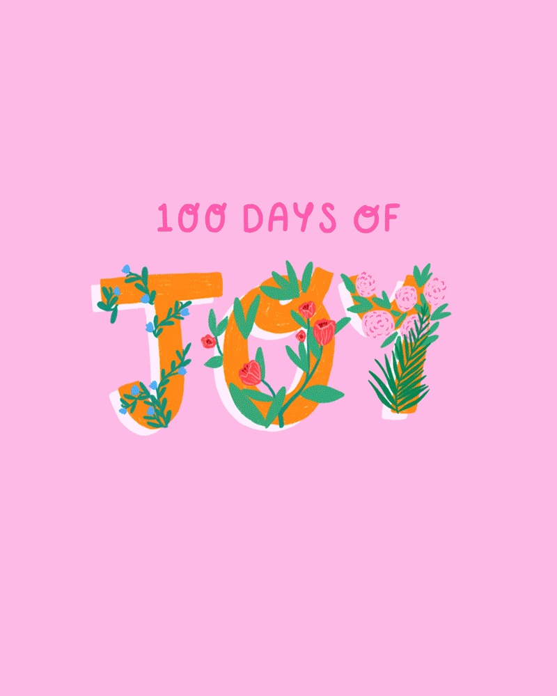 100 Days of Joy Illustrated titled