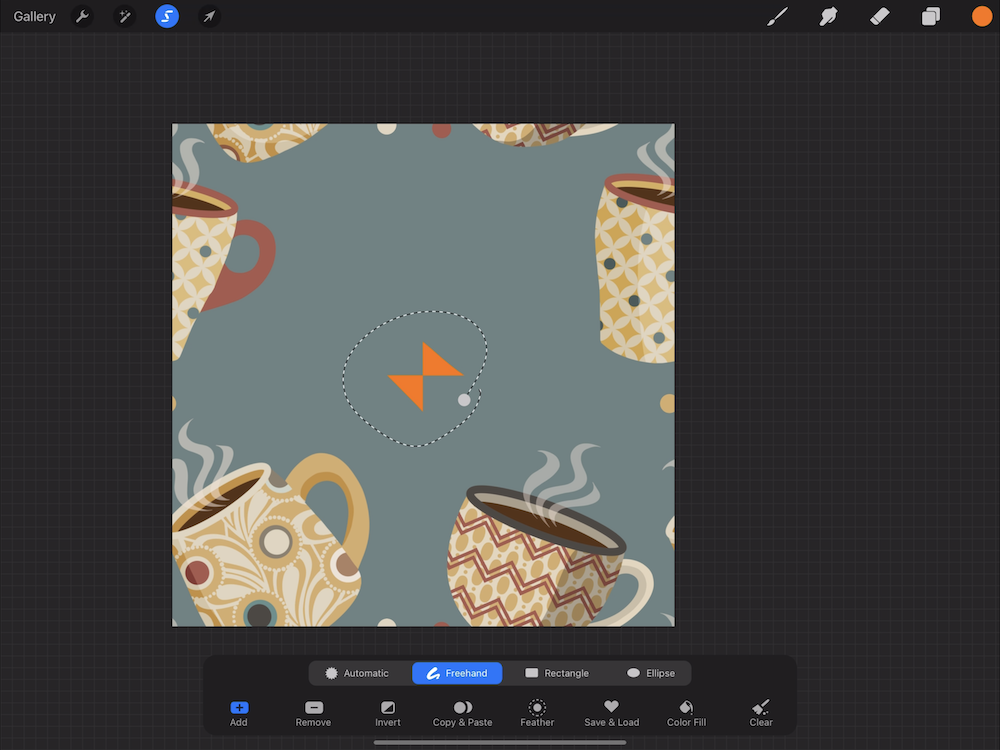 Creating a Pattern in Procreate - Remove the Original Corner Marks