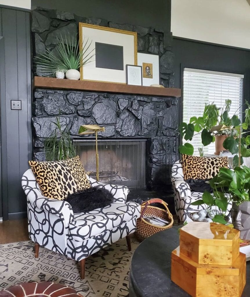 A living room space designed by Carmeon Hamilton