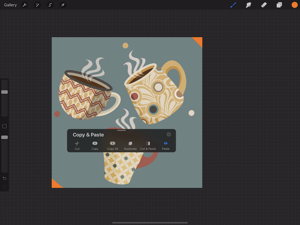 Creating a Pattern in Procreate - Create a New Design Layer
