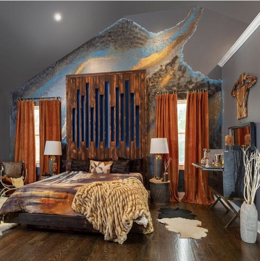 A bedroom space designed by Bailey Li