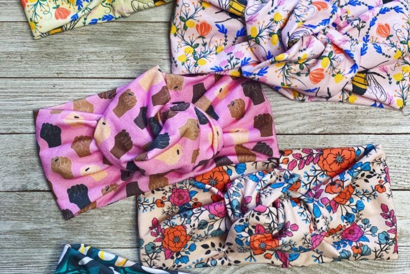 Headbands with colorful designs