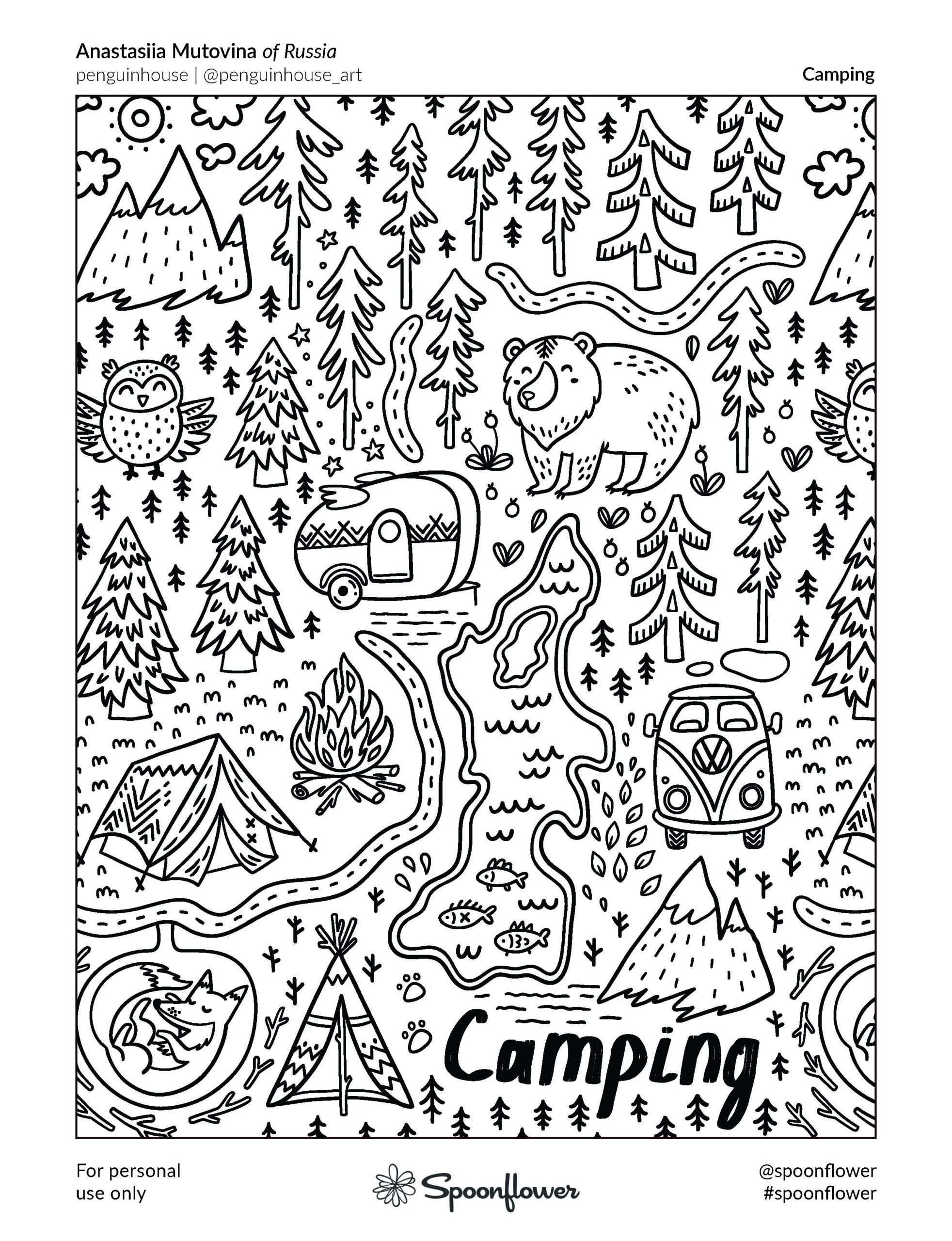 Coloring Book Page - Anastassia Mutovina