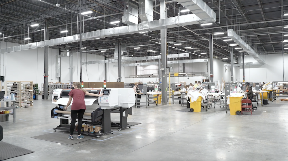 People working in Spoonflower's factory