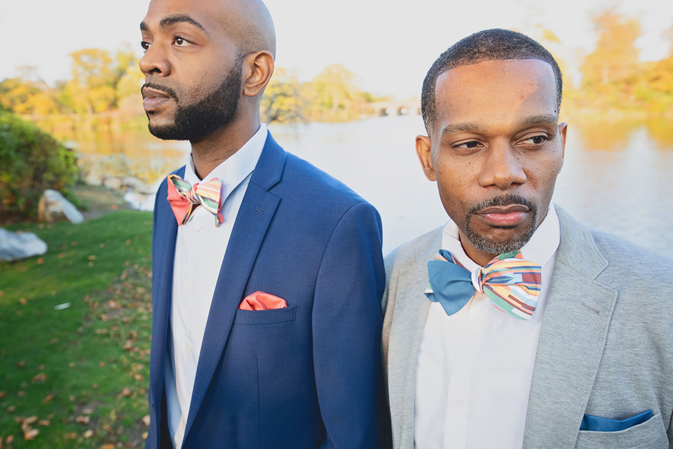 Two men wearing nice jackets and bowties