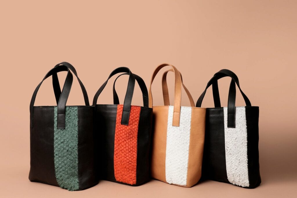 Four tote bags