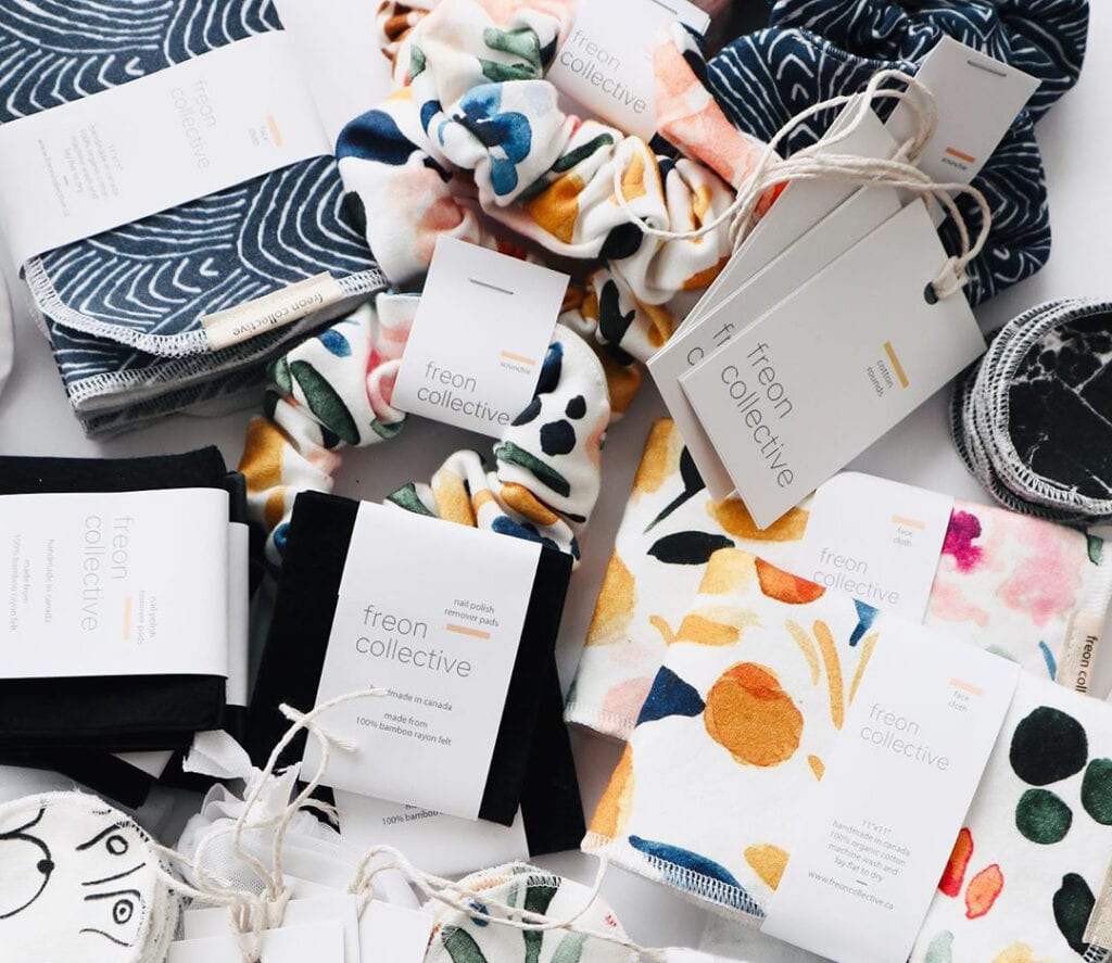 Zero-waste products from the small business Freon Collective