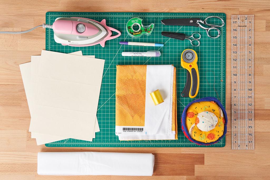 Materials to make your own matzah cover and afikomen bag