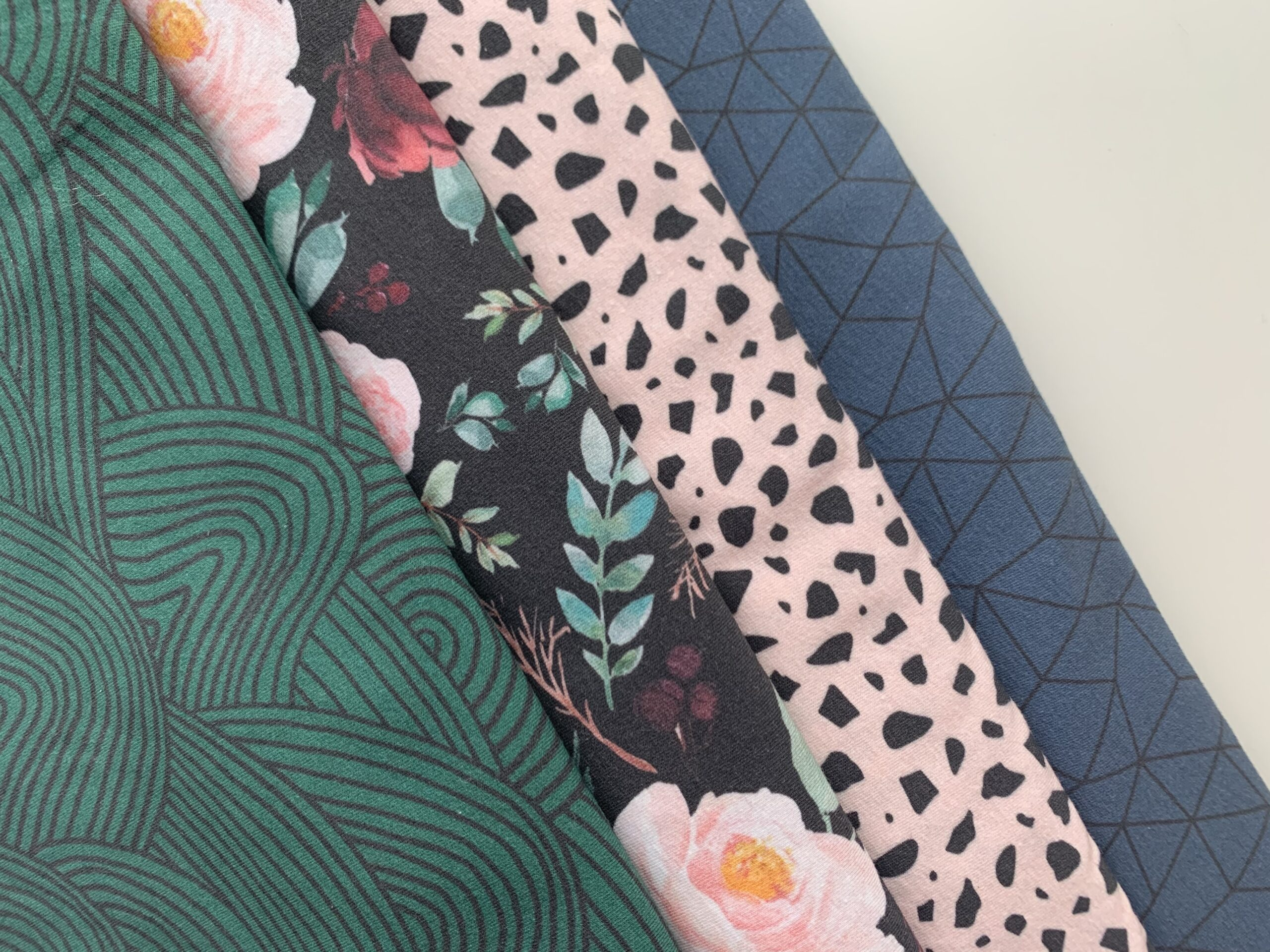 Fabrics used for reusable period underwear.