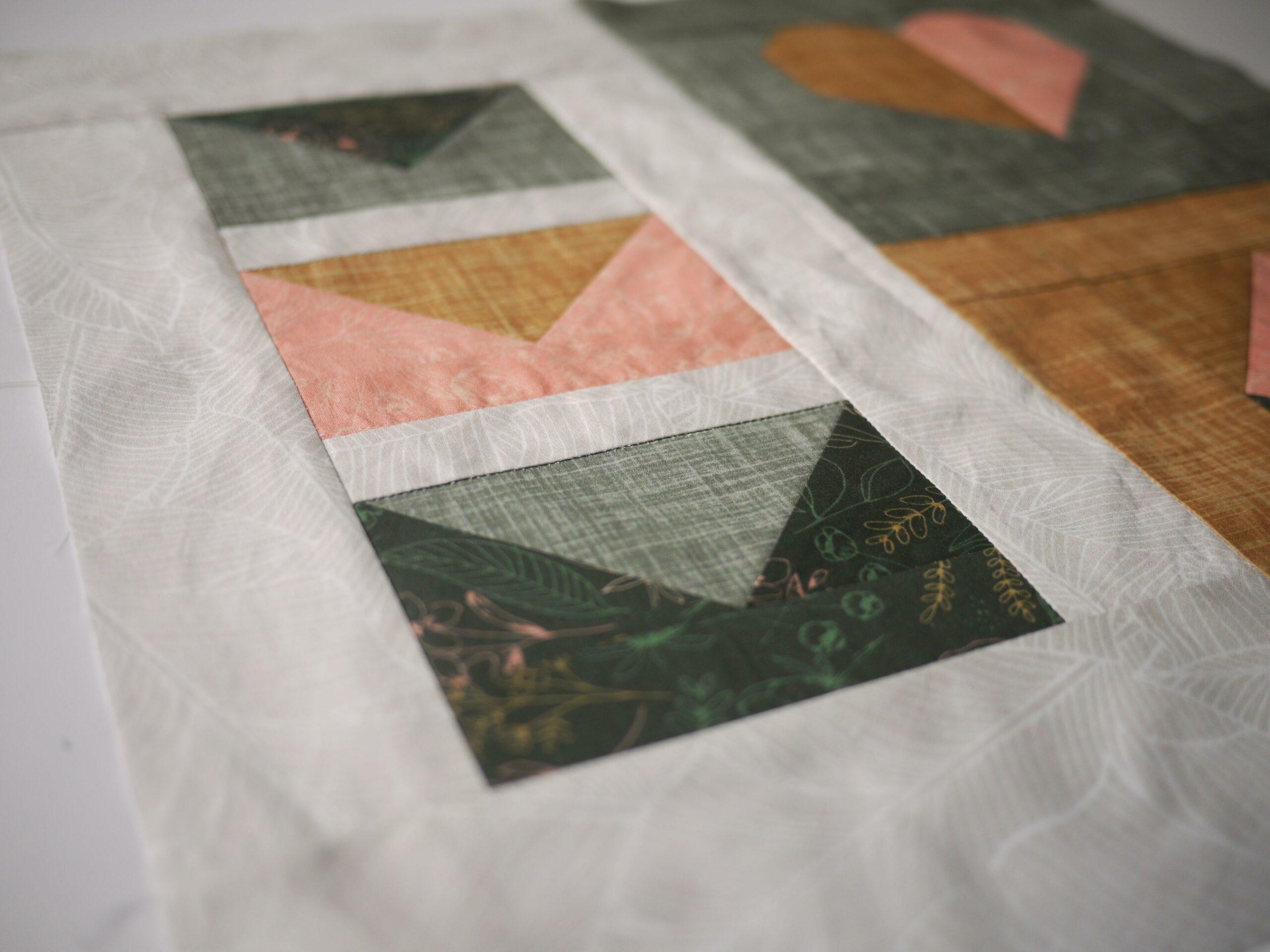 Fertig sind deine Umschläge für dein Quilt aus Spoonflower Stoffe