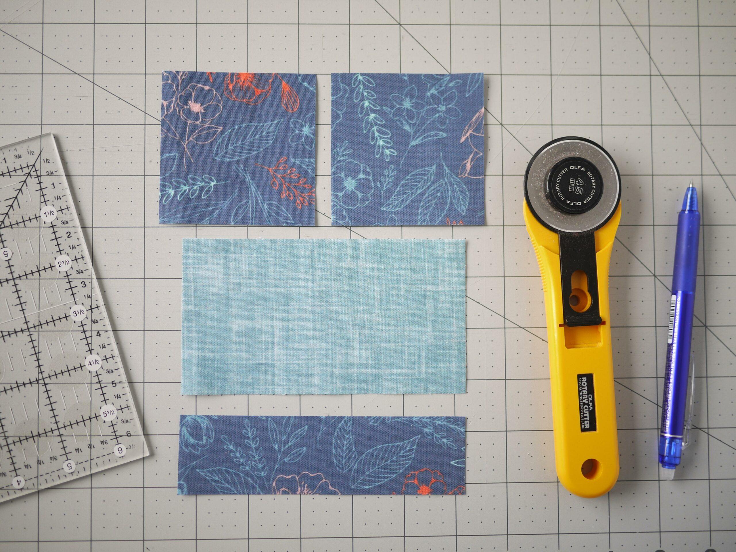 So bereitest du deine Briefumschlag Quilt Quadrat vor - Materialliste
