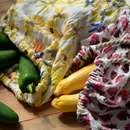 Wiederverwendbare Gemüsebeutel aus Recyceltem Canvas