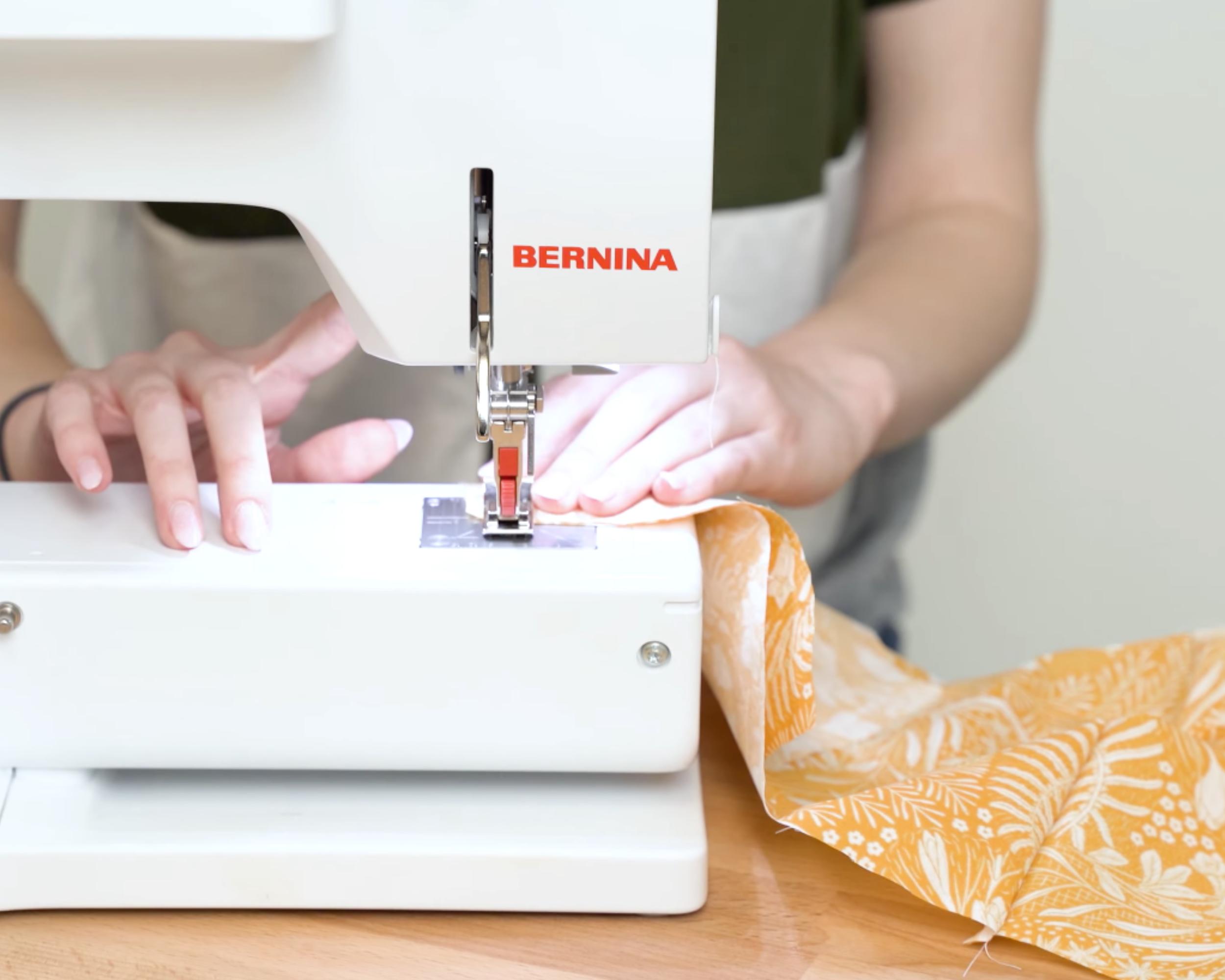 Sewing shoulder seams together