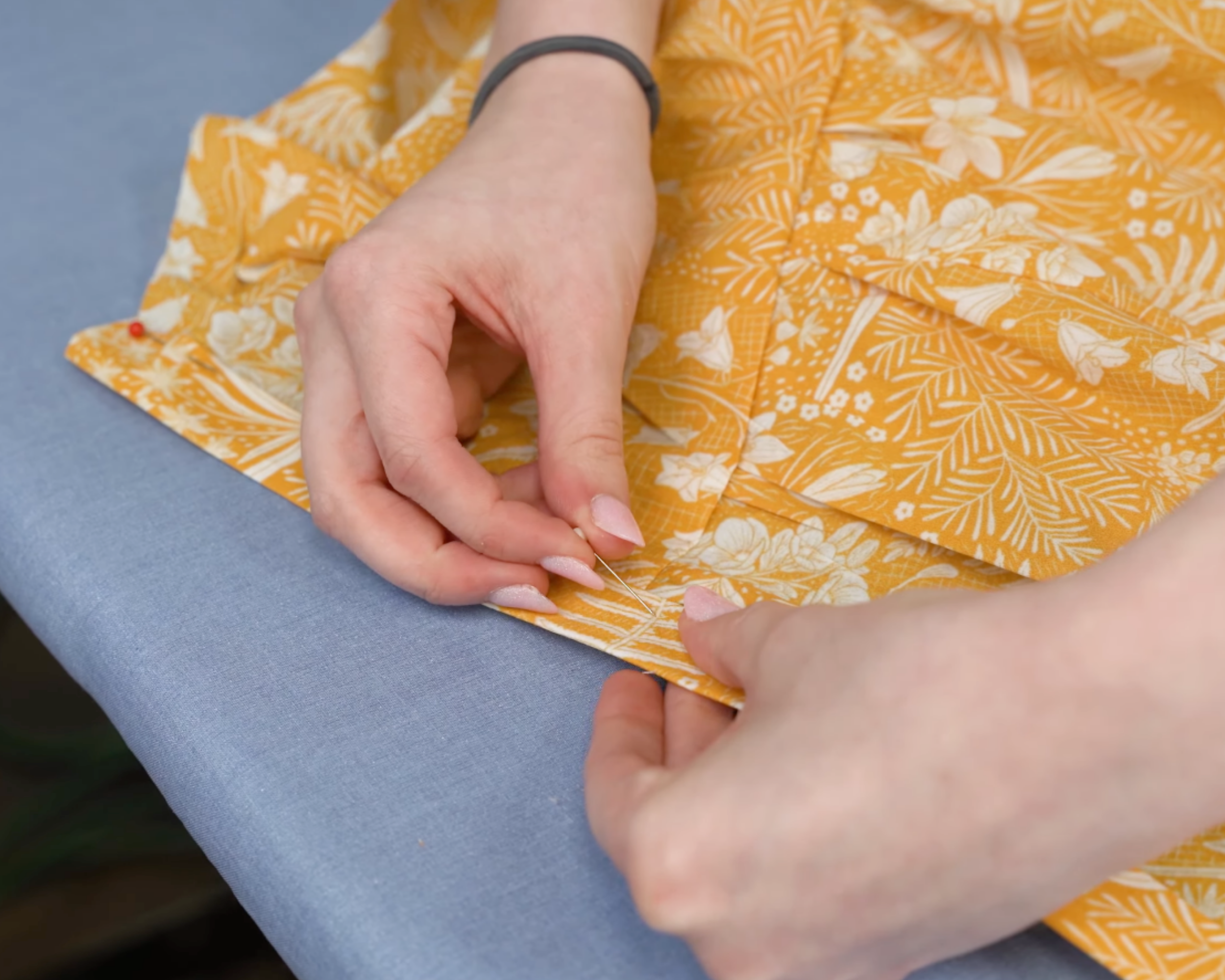 Attaching plackets to dress