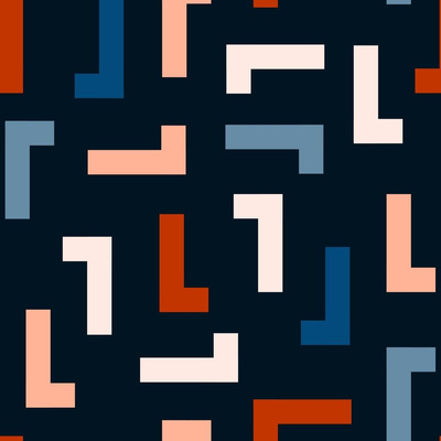 Geometric art deco surface pattern design
