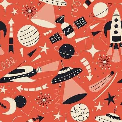 Intergalactic Adventures surface pattern design