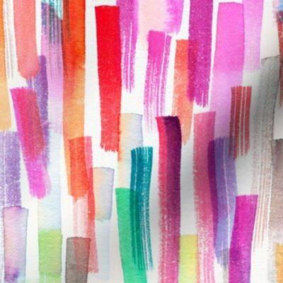 Colorful paint brushstrokes
