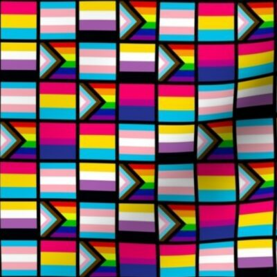 Fabric design with Pride flags