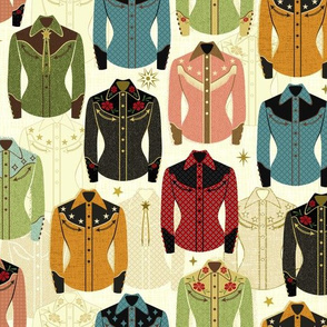 Design with colorful western shirts